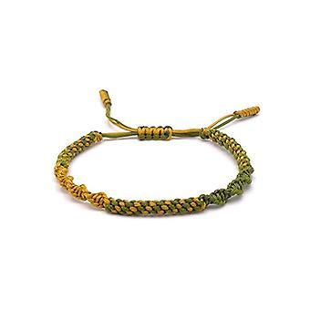 Benava, Tibetan bracelet of Friendship Buddhist jewel and metal base, color: yellow., cod. 0051-Gelb