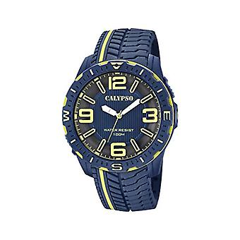 Calypso kellot analoginen katsella miesten kvartsi muovihihna K5762/4