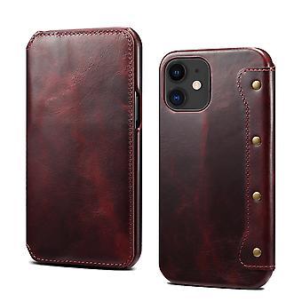 Slot per la custodia del portafoglio in vera pelle per iphone 12promax 6.7 vinoso pc1374