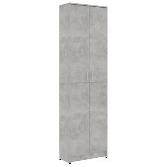 vidaXL garderobe betongrijs 55x25x189 cm spaanplaat