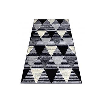 ラグ BCF BASE 3986 幾何学的な三角形グレー / ブラック