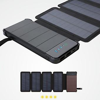 Detachable multi-chip solar mobile power supply folding type