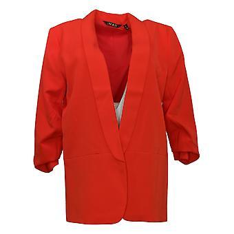 IMAN Global Chic Veste de costume pour femmes / Blazer Everyday Red 740717