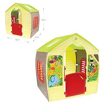 Mochtoys 11976 Spielhaus 102 x 88 x 108 cm, Fenster, Tür, indoor, outdoor