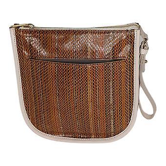 LOGO by Lori Goldstein Leather Wristlet Brown A290997