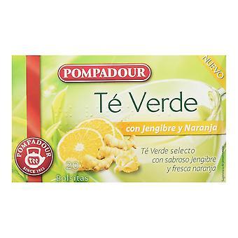 Infusion Pompadour Grüner Tee Ingwer Orange (20 uds)