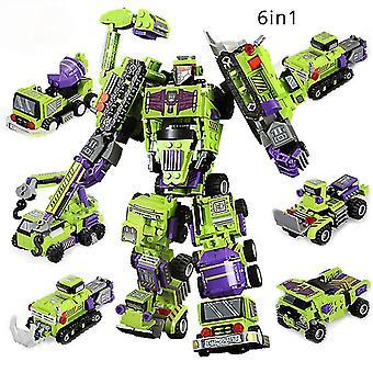 Kids Toy Transformation Robot Building Block City Engineering Excavator car truck constructor Bricks
