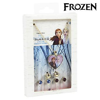 Necklace and matching earrings set Frozen 71365 Golden