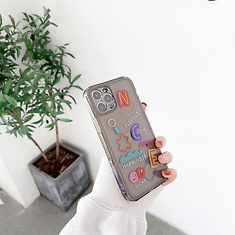 横に英語の文字が付いたストレートサイド電話ケース