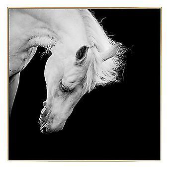 Tavla Horse BW (100 x 2,5 x 100 cm)