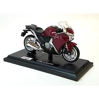 Maisto Honda VFRI 200F Röd/Burgandy Motorcykel 1:18
