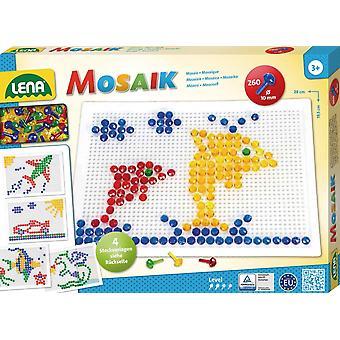 35606 - Mosaik Set, 10 mm, groß, transparent