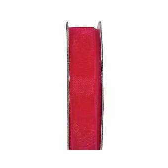 SISTA FÅ - 3m Fuchsia Rosa 10mm Bred Organza Craft Ribbon