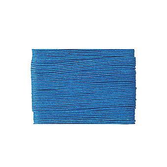 20m Turquoise Waxed Cotton 1mm String for Threading Crafts | Snoer en elastisch