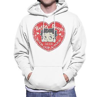 Betty Boop Oop A Doop Love Heart Men's Hooded Sweatshirt