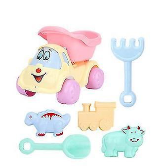 Doble rueda de arena playa juego de juegos para niños con cubo, palas, rastrillos (GROUP2)