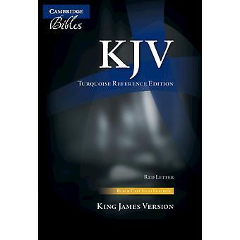 KJV Turquesa Referência Bíblia Preto Bezerro Split Couro Vermelho Texto KJ674XR