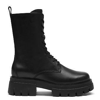 Ash LIAM Lace Up Black Leather Boots