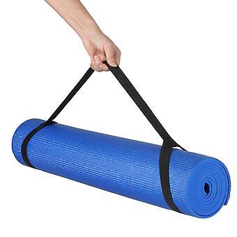 Kabalo - 173cm lång x 61cm brett - EXTRA tjock 6mm - halkfri yogamatta med bärrem, också för motion / Pilates / Gym / Camping, etc