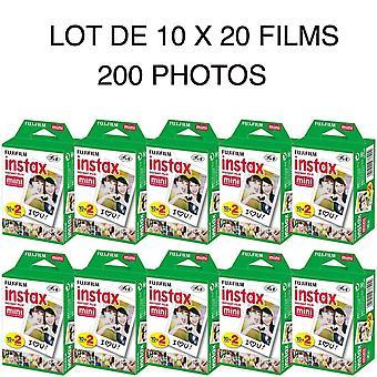 Fujifilm Instax Mini Film - Pakket van 10 x 20 films voor een totaal van 200 foto's