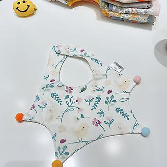 סנאפ מוסלין ביבס לבנים ובנות, 3 חבילות בייבי סינר, אפרסמון