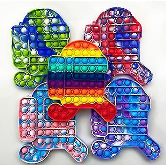 Run Push Pop Bubble Sensory Fidget Kids Toy It Needs Silent Autism Ease