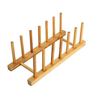 Rack de madeira, madeira de rack de drenagem, drenagem de pratos de cozinha destacáveis