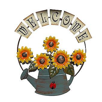 Qian Sunflower Welcome Sign, Front Door Decor Hanging Outdoor