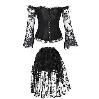 Corset Gothic Bustier Burlesque Topuri cu rochie Vintage Gorset Steampunk Dezosate Palace Corselet Body Shaper Burtica Slăbire Teaca