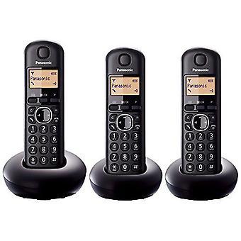 Combiné de trois numérique Panasonic KXTGB213EB noir téléphone sans fil avec écran LCD