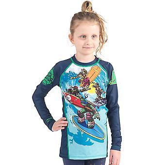 Fusion Kampf Gear Kid TMNT Sewer Surfin ' Rashguard Langarm