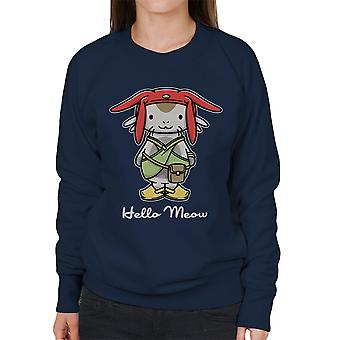 Hello Meow Space Dandy Kitty Women's Sweatshirt