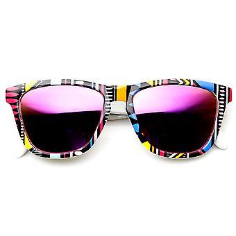 Róg Native Drukuj kolor lustro obiektyw Keyhole most oprawkach okularów przeciwsłonecznych