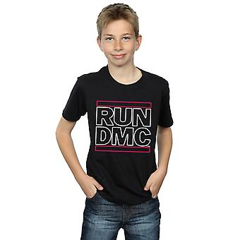 Run DMC Boys Neon Logo T-Shirt