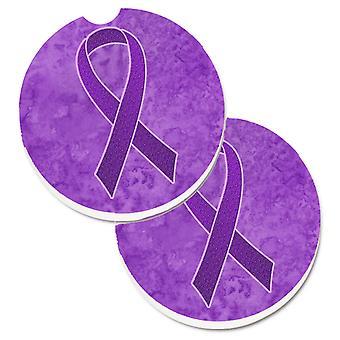 Púrpura de la cinta para pancreático y cáncer Leiomyosarcoma conciencia de taza 2 Ho