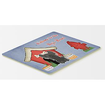 Dog House Collection Chinese Crested Black Kitchen or Bath Mat 20x30