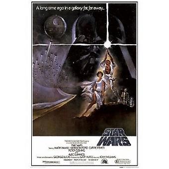 Звездные войны Эпизод 4 Новая надежда стиль A Плакат Плакат Печать