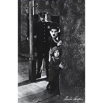 Charlie Chaplin - Kid affisch affisch Skriv ut