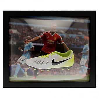Manchester United Rashford Boot (umrahmt) unterzeichnet