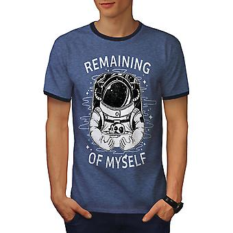 I Am Astronaut Men Heather Blue / NavyRinger T-shirt | Wellcoda