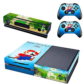 REYTID Console Skin / Sticker + 2 x Controller Decals & Kinect Wrap Compatible with Microsoft Xbox One - Full Set - Super Mario Bros
