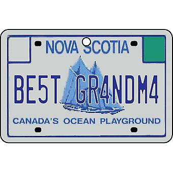 NOVA Escócia - melhor vovó licença placa refrogerador de ar de carro
