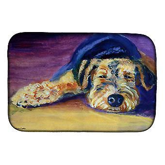 Carolines trésors 7344DDM Snoozer Airedale Terrier plat Mat de séchage