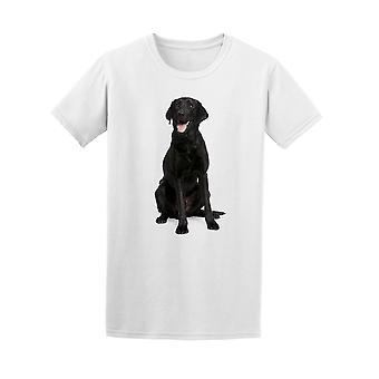 Schwarze Labrador keuchend T-Shirt Männer-Bild von Shutterstock