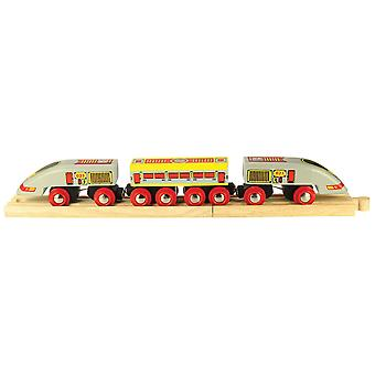 Bigjigs Rail Wooden Bullet Train Engine Locomotive Carriage Railway