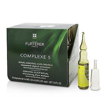 Rene Furterer Complesso 5 Essenziale Scalp Rituale Stimolando Plant Estratto Con Oli Essenziali - 24x5ml/ 0.16oz