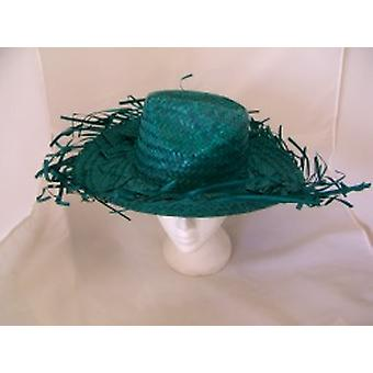 Caribbean Straw Hat In Bright Green (1)