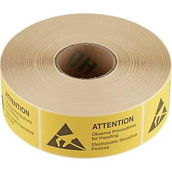 Wolfgang Warmbier ESD warning sign 1000 pc(s) Yellow, Black (L x W) 75 mm x 36 mm 2850.3675. E self-adhesive