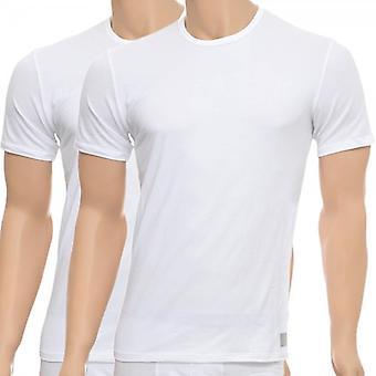 Calvin Klein CK One Short Sleeved Crew Neck T-Shirt 2-Pack, White, Small