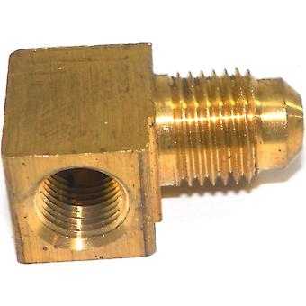 Big A Service Line 3-150520 Brass Pipe, 90 deg Street Flare Elbow 5/16